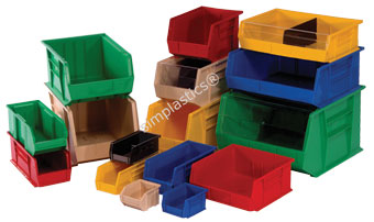 Stackable Plastic Bins Quantum